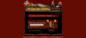game piece code promotion