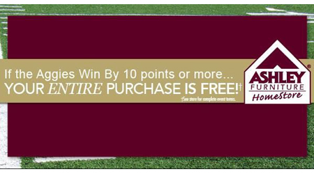 Ashley Furniture Homestore College Station Sca Promotions