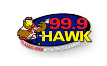 99.9 the hawk logo
