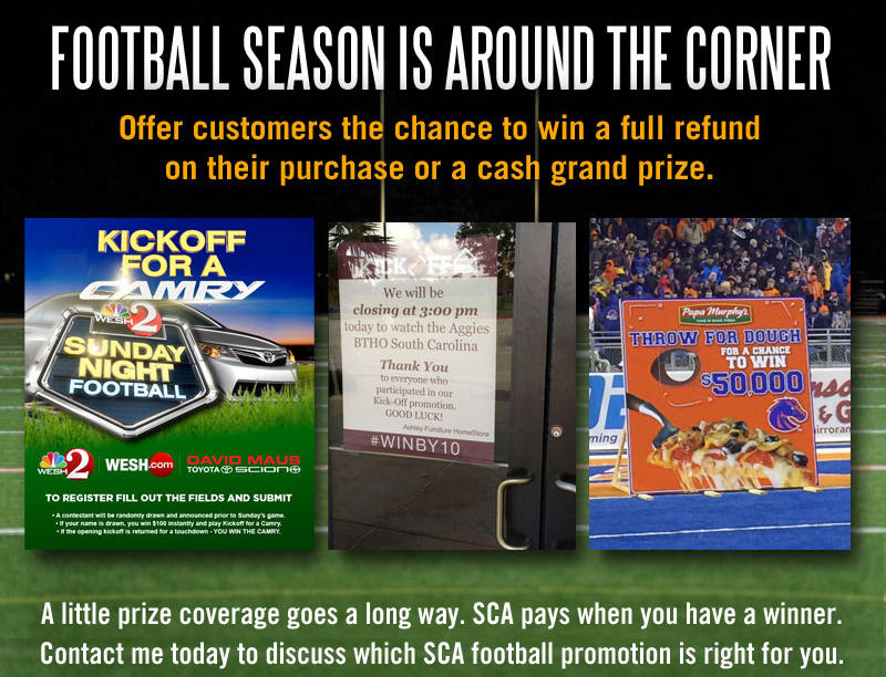 Football Promotions for Retailers and Malls